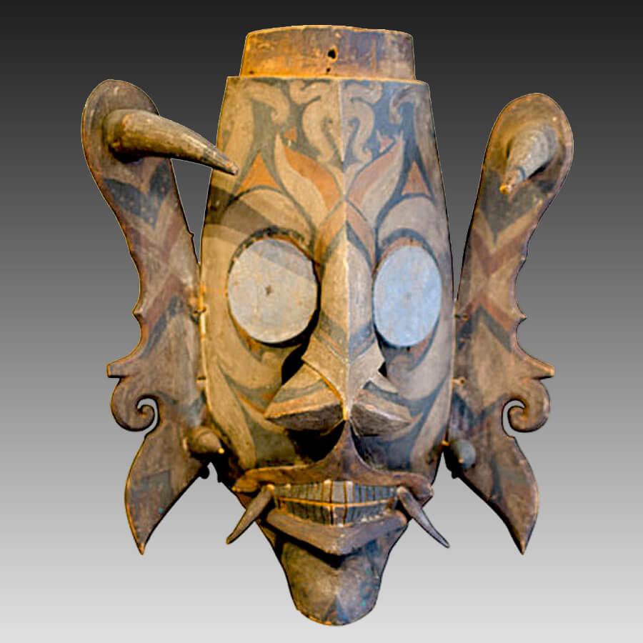 A Dayak Hudoq mask