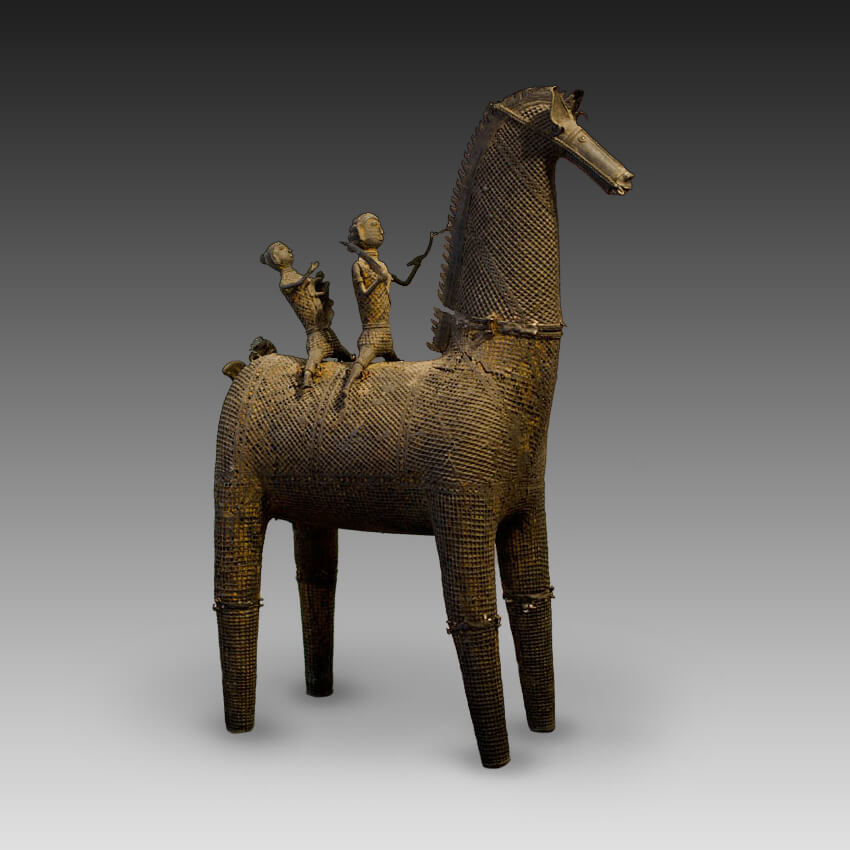 An Indian horse rider figure