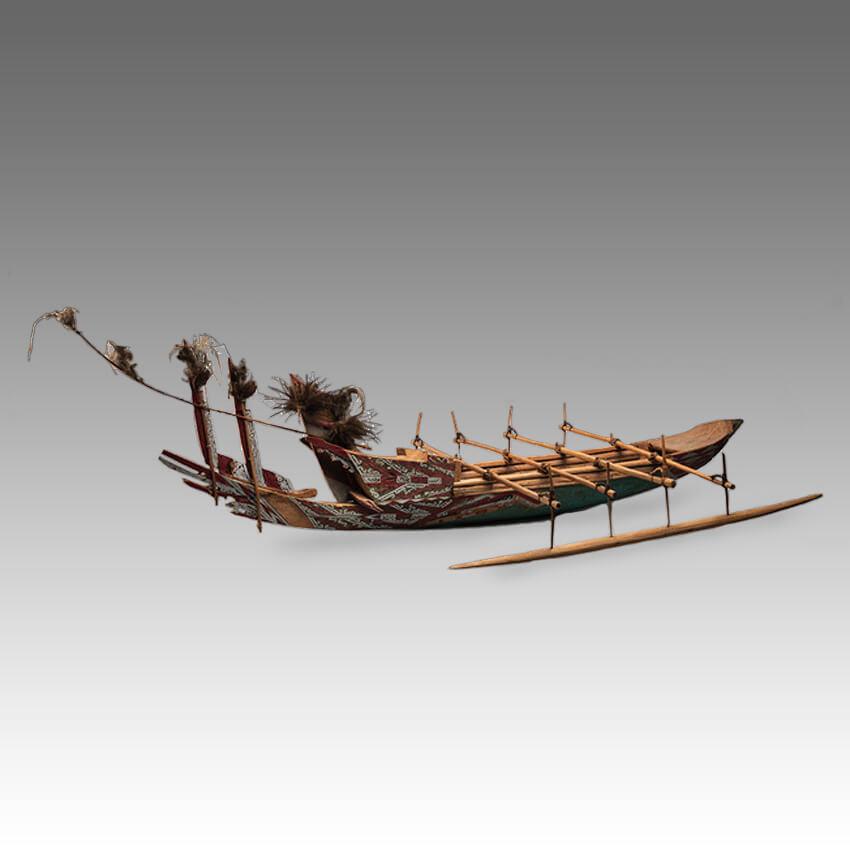 A Lake Sentani Canoe model