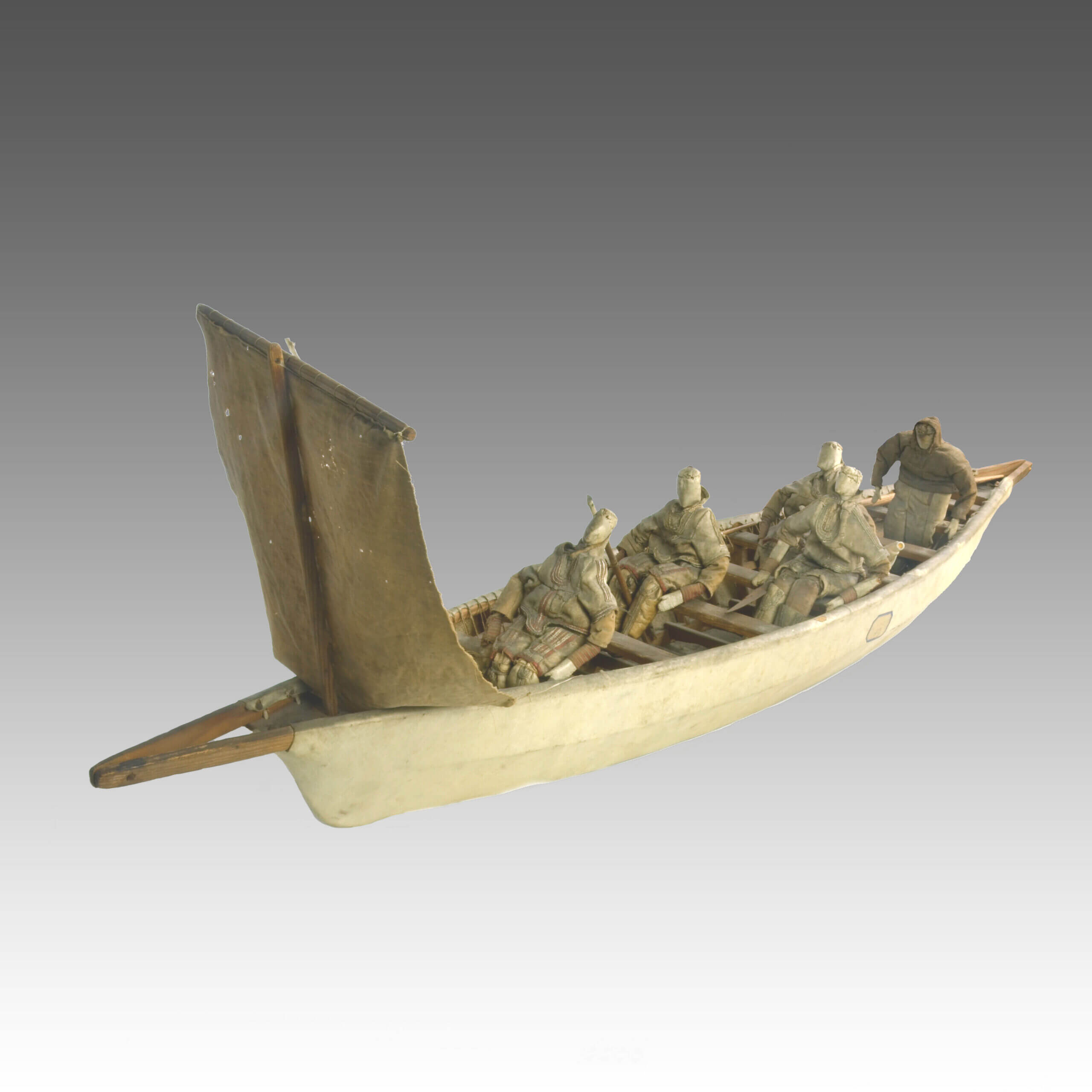 An antique Inuit Canoe model
