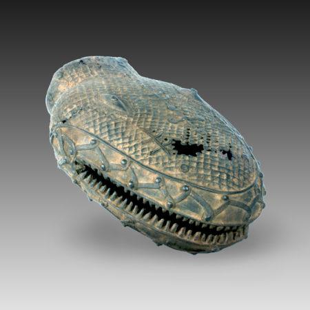 A Benin head of a snake
