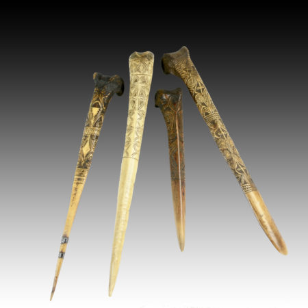 A Collection of Iatmul and Abelam bone daggers