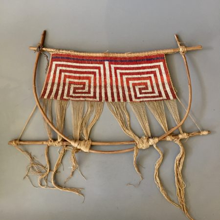 An antique Wayana Aparai weaving loom