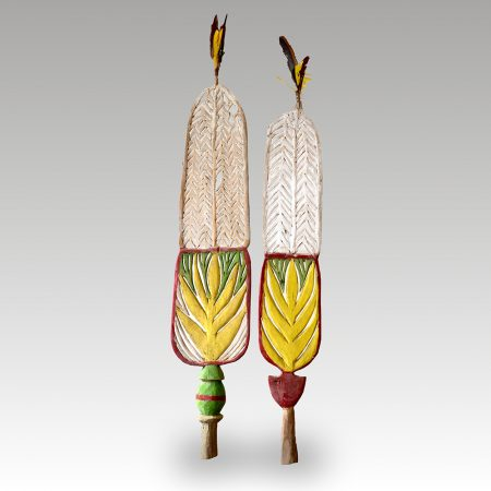 A pair of Tolai dance ornaments